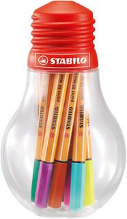 Набор капиллярных ручек STABILO Point 88, мини, 12 цветов, че.