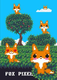 Fox pixel. Тетрадь школьная в мягкой обложке, 48 листов в кле.